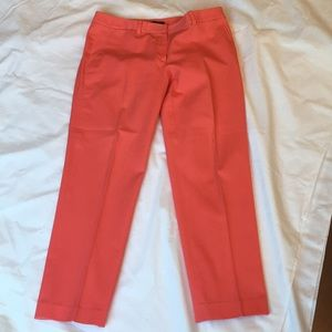 Elie Tahari Cropped Coral Pants